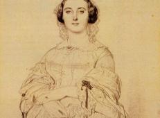 安格尔素描画《查尔斯夫人》.jpg