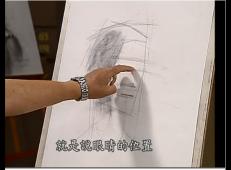 素描技法:冉茂芹老年男子素描头像视频教程(上集)