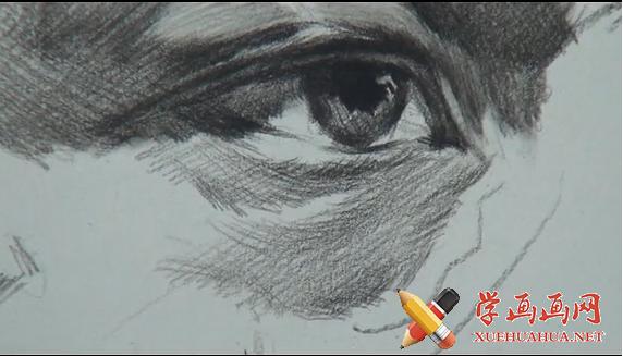 素描眼睛画法视频教程(1)