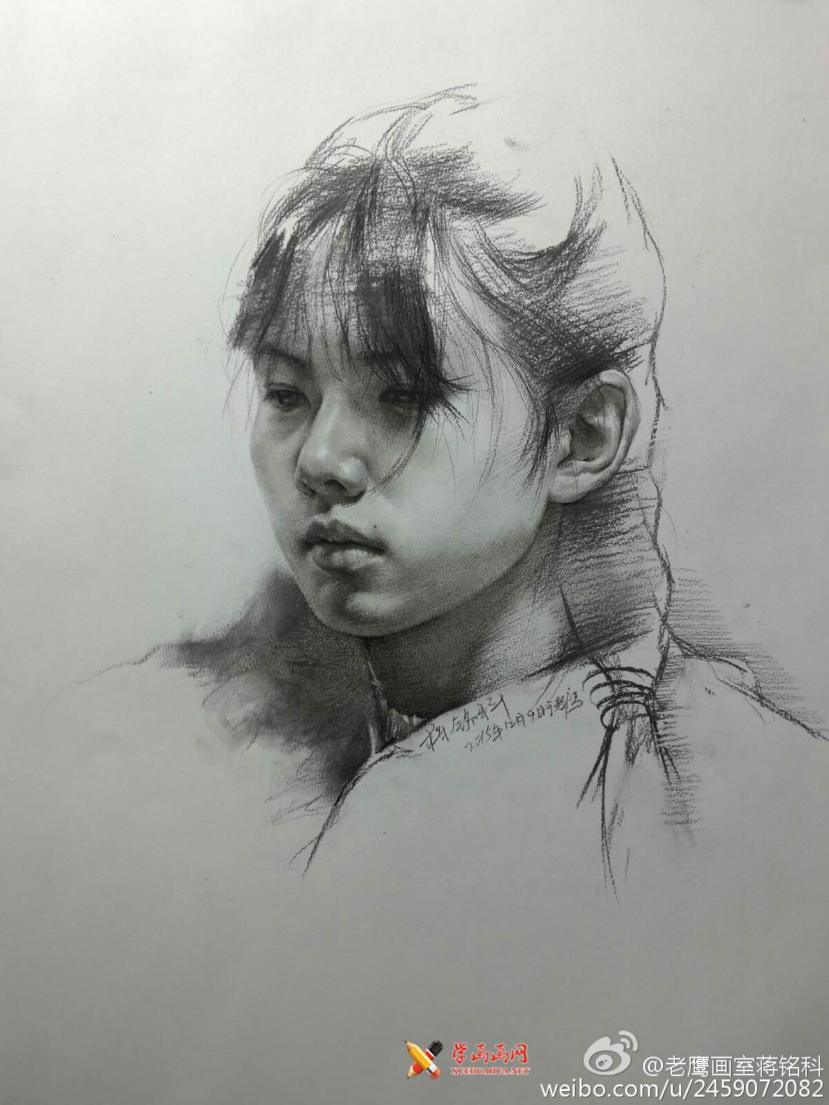 老鹰画室素描头像作品欣赏(1)