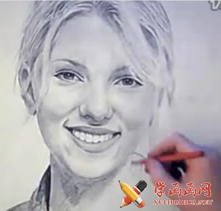 国外牛人素描画斯嘉丽约翰逊视频(1)