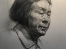 老鹰画室吕国杰老师素描头像范画欣赏