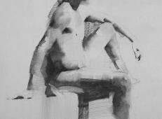 美国画家Mark.Tennant人体光影结构素描画 (8).jpg