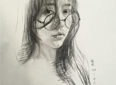 杭州羽翼画室杨煌美女素描图片集