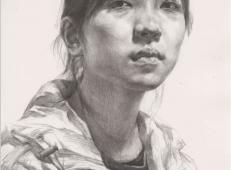 优秀素描头像_年轻女子的画法素描画【高清图片可临摹】