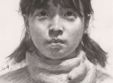 素描美女怎么画?年轻女子素描头像高清范画欣赏【可临摹】