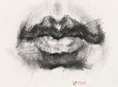 素描嘴的画法步骤分解及各角度素描嘴的画法范画图片大全 (10).jpg