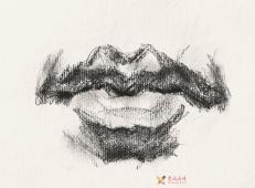 素描嘴的画法步骤分解及各角度素描嘴的画法范画图片大全 (11).jpg