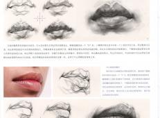 素描嘴的画法步骤分解及各角度素描嘴的画法范画图片大全 (8).jpg