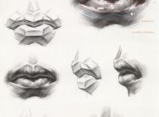 素描嘴的画法步骤分解及各角度素描嘴的画法范画图片大全 (1).jpg