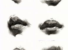 素描嘴的画法步骤分解及各角度素描嘴的画法范画图片大全 (23).jpg