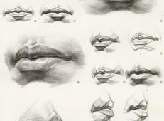 素描嘴的画法步骤分解及各角度素描嘴的画法范画图片大全 (6).jpg