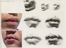 素描嘴的画法步骤分解及各角度素描嘴的画法范画图片大全 (5).jpg