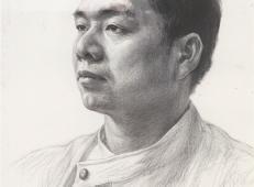 侧面男子素描头像的画法临摹图片素材
