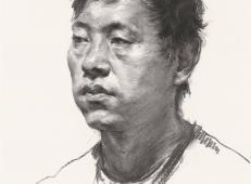人像素描:侧面男子素描头像优秀作品图片