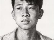 年轻男子的画法素描头像图片