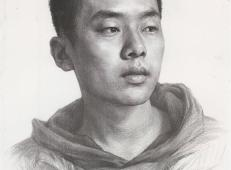 优秀人物素描作品_青年男子素描头像的画法高清图片