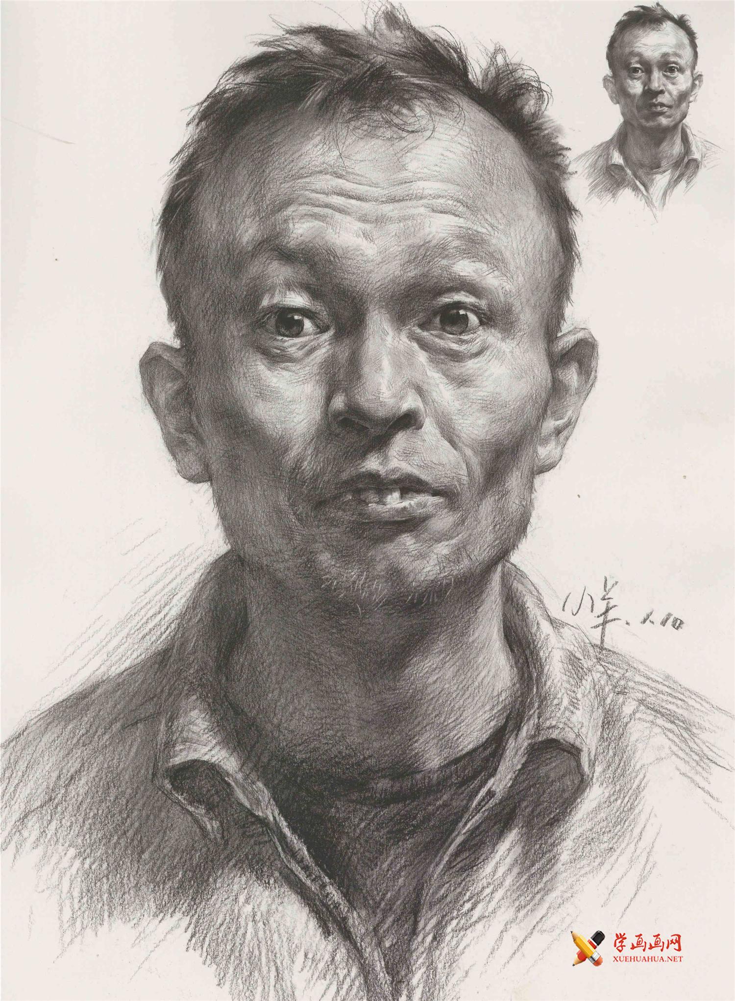 素描图片_素描男子头像的画法高清图片(1)