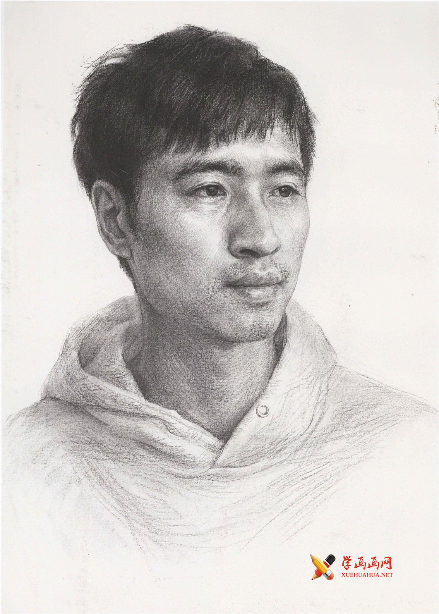 男青年素描头像高清图片作品欣赏(1)