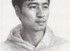 男青年素描头像高清图片作品欣赏