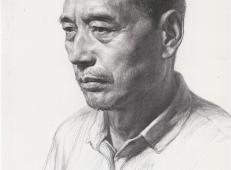 人物头像的画法_中年男子素描头像图片