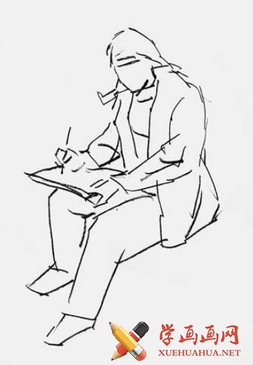 短时间人物速写绘画方法(1)