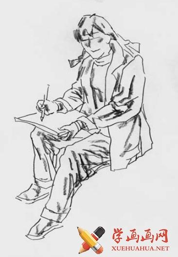 短时间人物速写绘画方法(2)