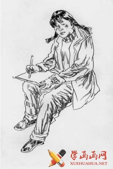 短时间人物速写绘画方法(4)
