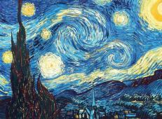 梵高星空_凡高作品《星夜》高清大图
