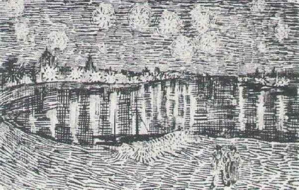 梵高星夜三部曲_《罗纳河上的星夜》高清图片赏析(3)