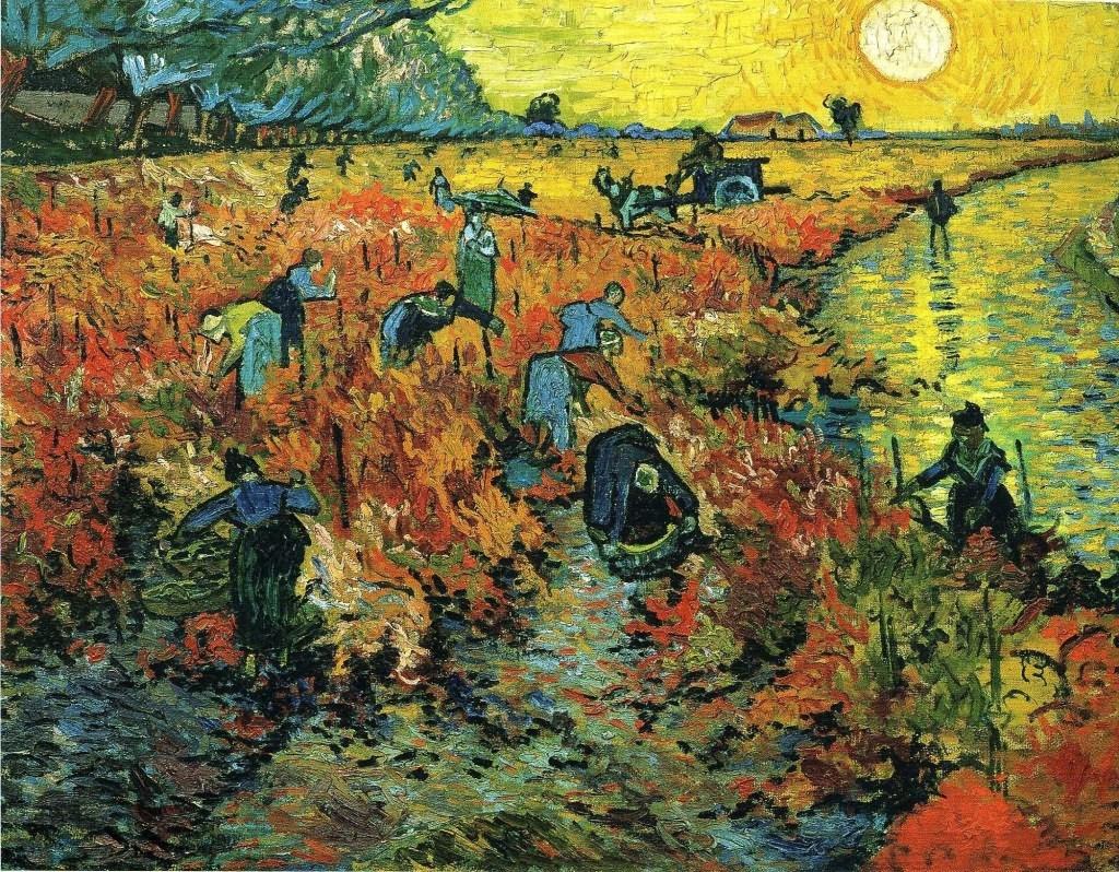 梵高《在阿尔勒的红葡萄园》(1)