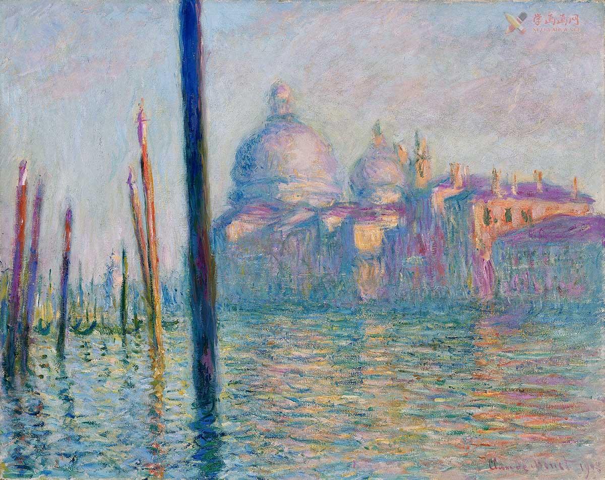 莫奈印象派经典制作《威尼斯大运河》超清图片下载(1)