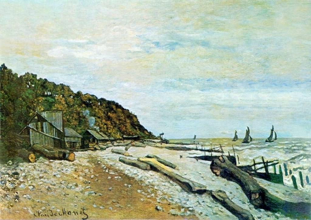 莫奈的画《翁弗勒附近的造船厂》赏析(1)