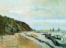莫奈的画《翁弗勒附近的造船厂》赏析