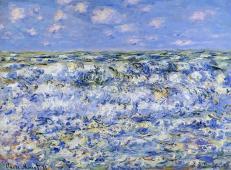 《海浪》_莫奈风景油画作品欣赏
