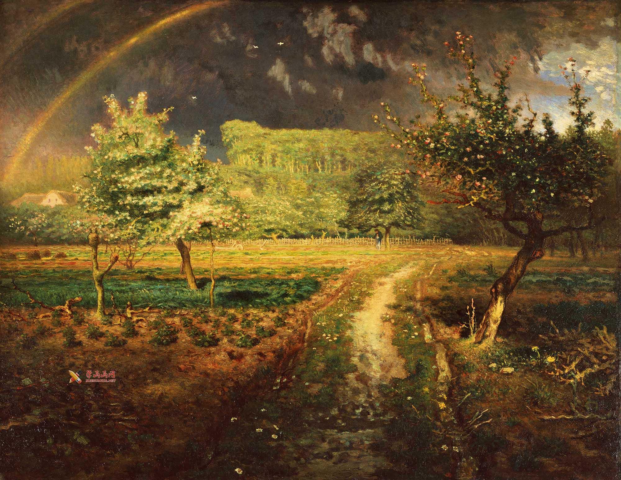 米勒油画作品《春》赏析(1)