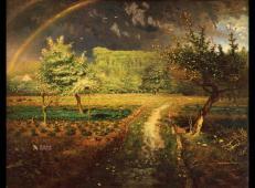 米勒油画作品《春》赏析