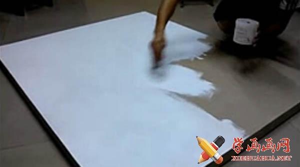 油画布的简易做法
