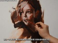 油画教程_人物油画固有色明度概括示范视频