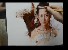 人物油画视频_祝凯油画《蓬蓬裙女孩》绘制过程