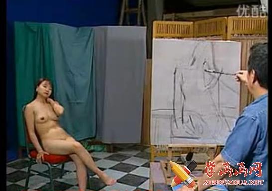 女人体油画入门视频教学(1)