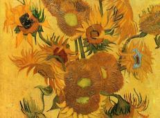 《向日葵》-梵高最著名的画作《向日葵》作品赏析【高清图片】