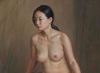 女画家安静油画人物作品欣赏