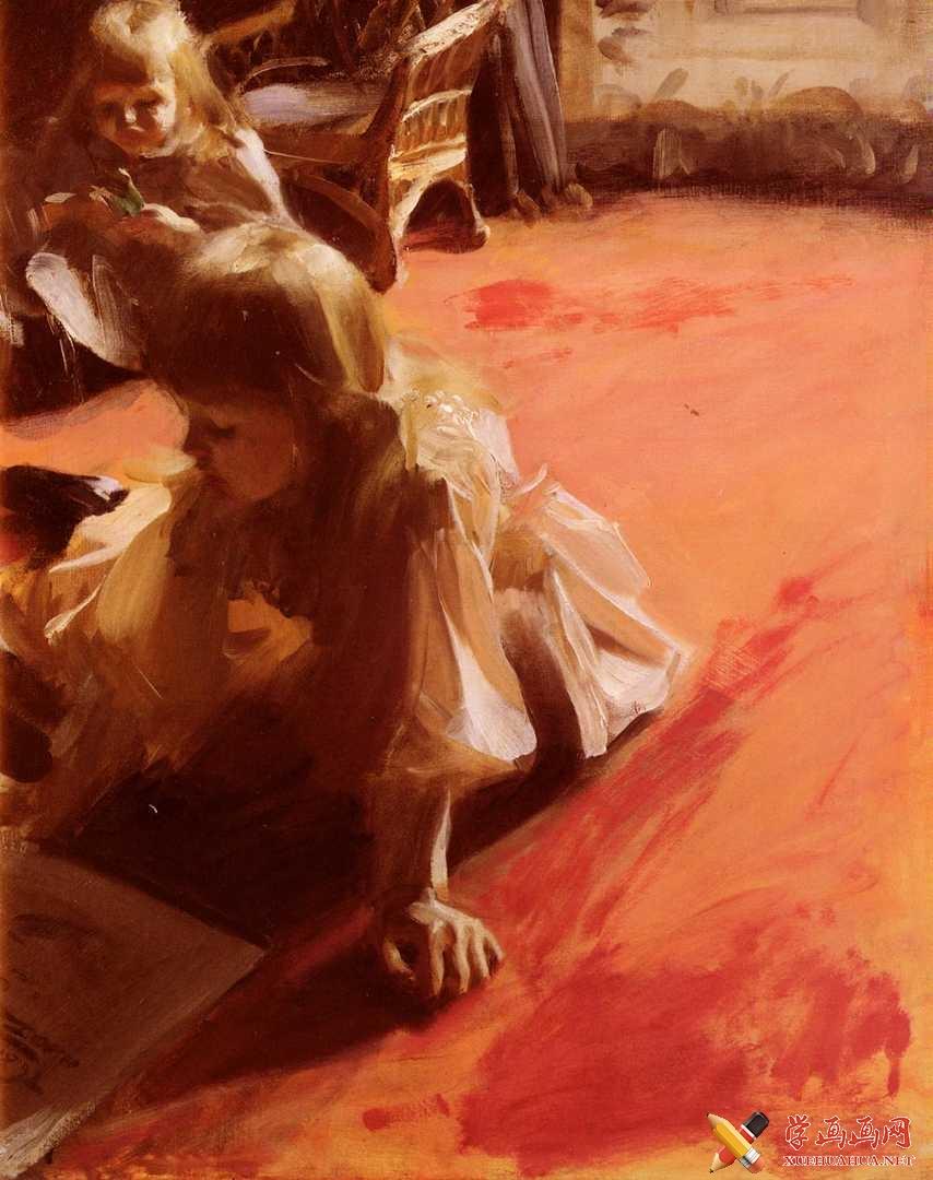 《拉蒙.苏本卡西斯的女儿肖像》_安德斯.佐恩(1)
