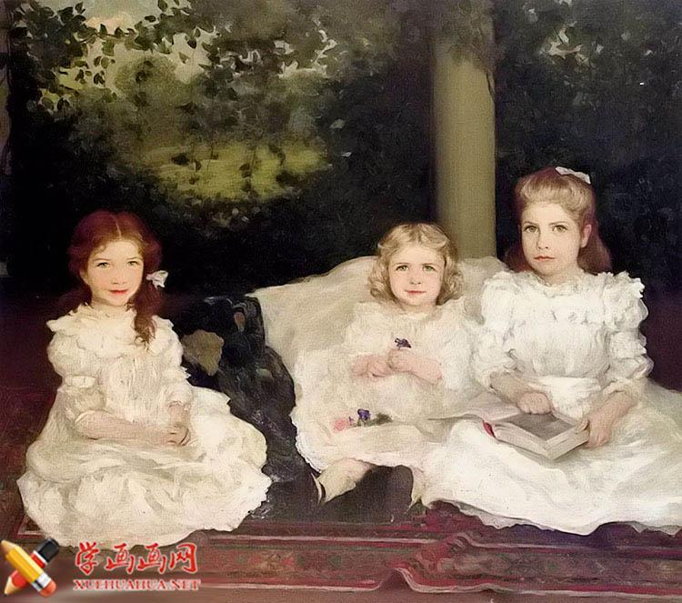 布面油画《姐妹》 the sisters(1)