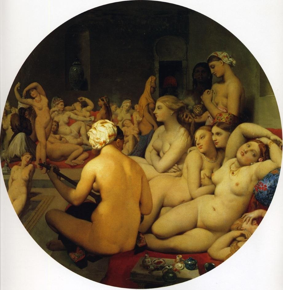 《土耳其浴室》_安格尔女人体油画作品图片(1)