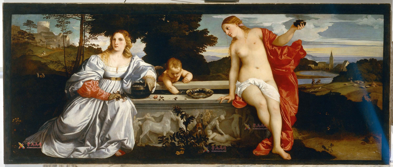 提香油画《天上的爱和人间的爱》高清图片赏析(1)