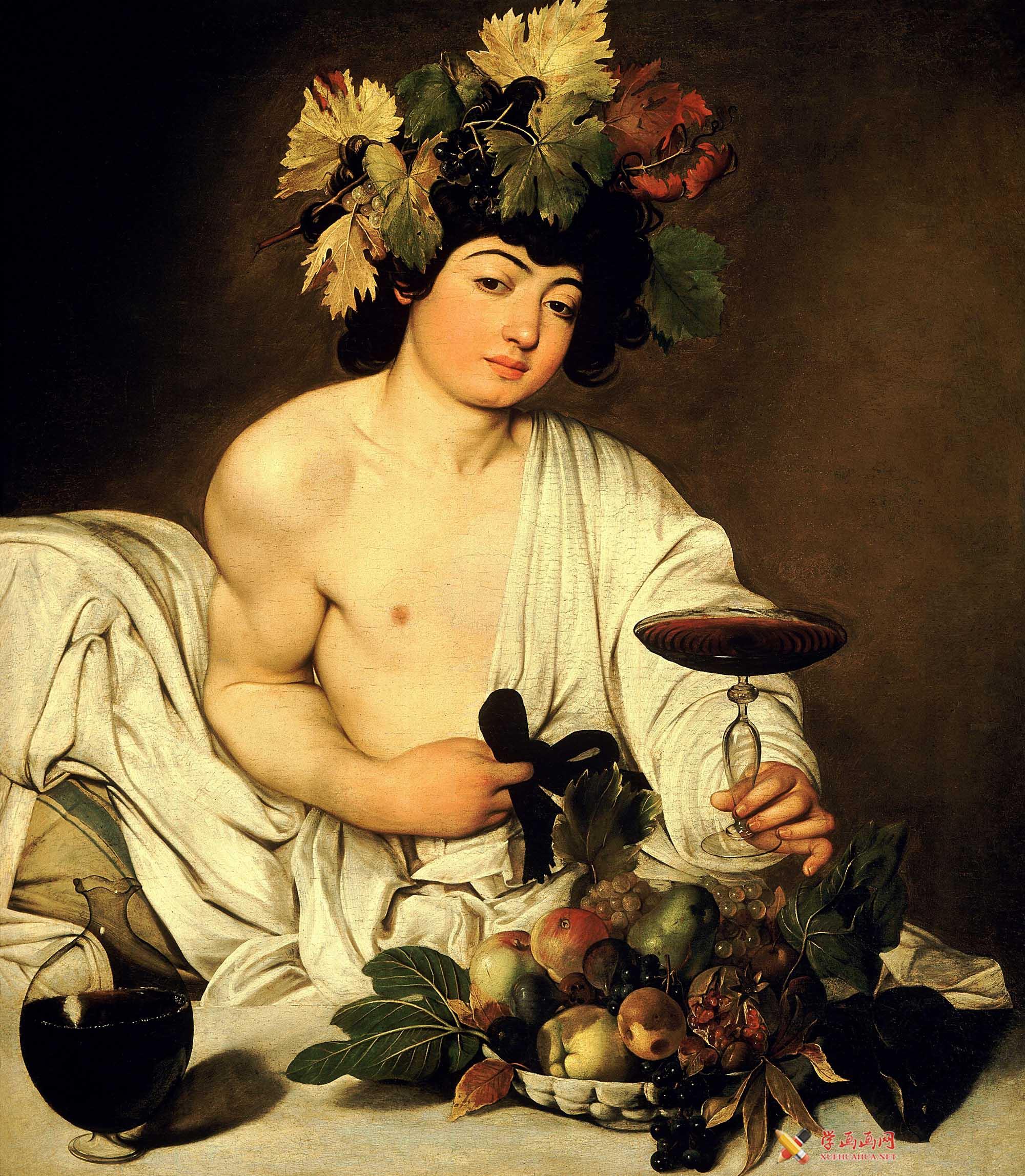 卡拉瓦乔作品《酒神巴克斯》高清油画图片(1)