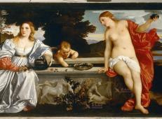 提香油画《天上的爱和人间的爱》高清图片赏析