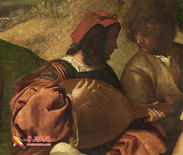 乔尔乔内《田园合奏》高清油画赏析(3)